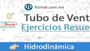 Tubo de Venturi – Ejercicios Resueltos
