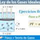 Problema de la ley de los gases ideales
