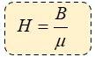 Fórmula de intensidad de campo magnetico